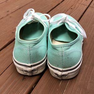Vans Shoes - Vans Authentic Mint Green Sneaker Size 8.5 W